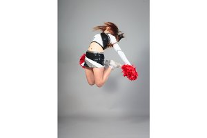 Cheerleader Jumping High