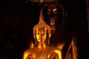 A large Buddha.