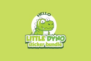 Little Dyno stickers bundle