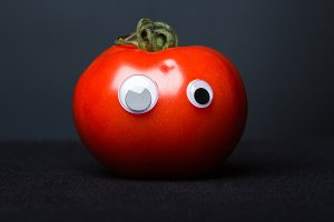 Funny Tomato With Eyes