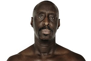 African descent man portrait (PNG)
