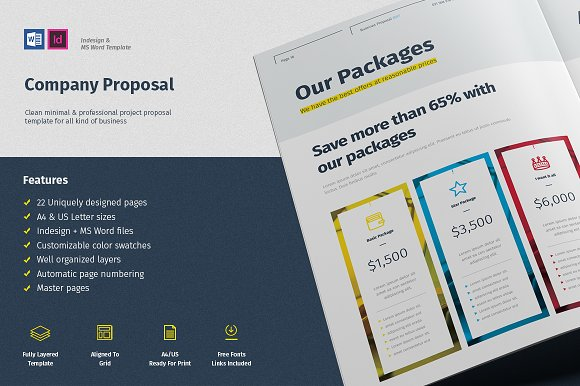 Proposal company profile template brochure templates creative proposal company profile template brochures accmission Images