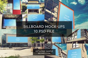 Billboard Mock-up 10 PSD Pack