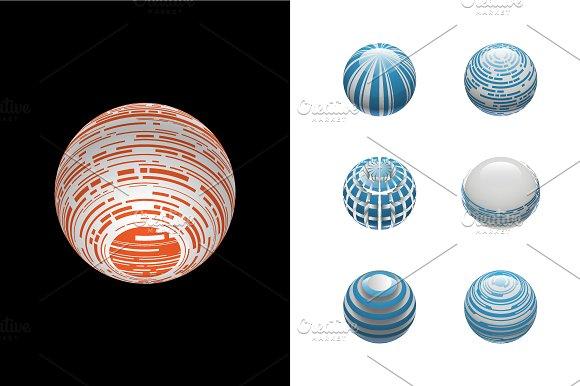 Sphere Logo Set 4 in Objects