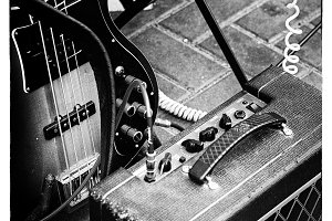 Guitar and Amplifier close-up