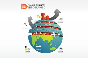 Business World Infographic Concept