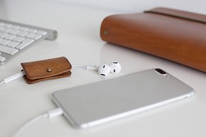 Smartphone and cable holder