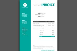 Vector invoice template