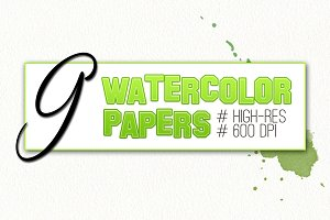 9 Watercolor Papers!