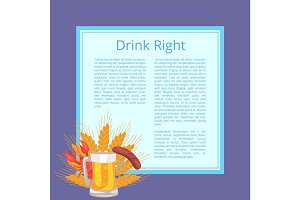 Drink Right Poster Depicting Food and Beverage