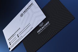 Black &White Corporate Business Card