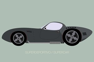 retro super car