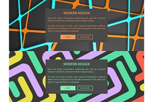 Modern Design Web Pages Set Vector Illustration