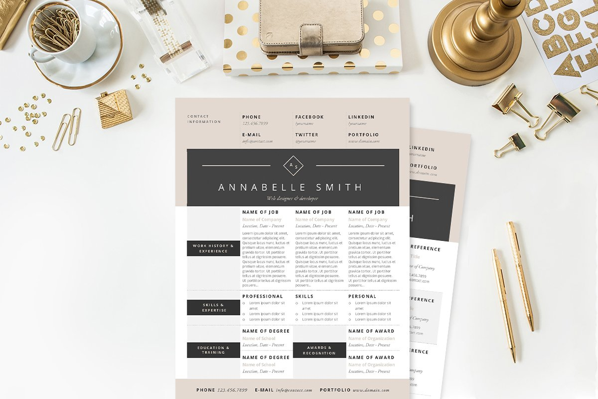 20 resume templates that look great in 2015 creative market blog elegant resume template package