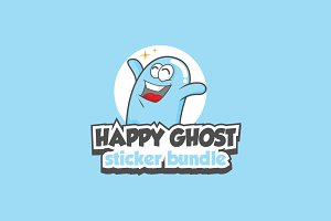 Happy Ghost stickers bundle