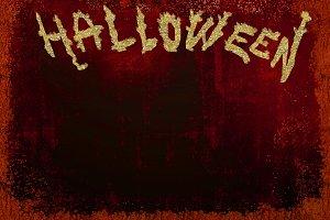 Empty poster for Halloween parties