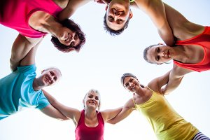 Woman sport club outdoor