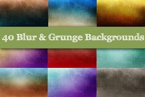 40 Blur & Grunge Backgrounds