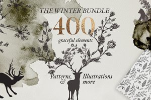 Golden Winter Patterns Bundle