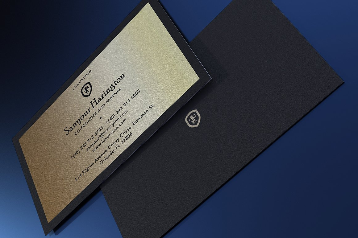 Luxurious Gold Business Card ~ Business Card Templates ~ Creative Market