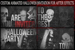 Animated Halloween Invitation Poster