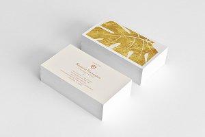 Stylish Gold Minimal Business Card