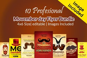 10 Movember Flyer Bundle Vol:01