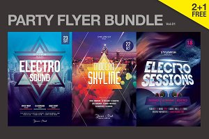 SALE% Party Flyer Bundle Vol.01