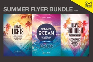 SALE% Summer Flyer Bundle Vol02
