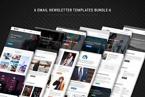 6 Newsletter Templates Bundle - 6
