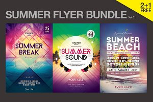 SALE% Summer Flyer Bundle Vol01