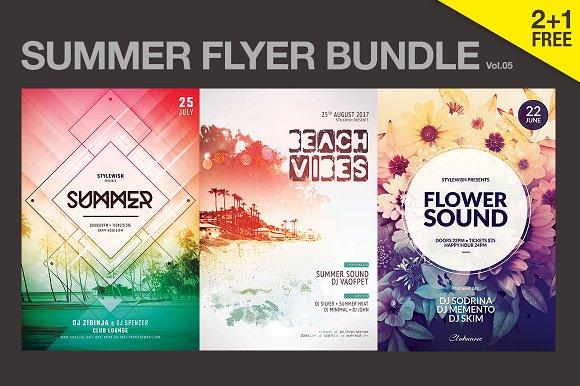 sale summer flyer bundle vol 05 flyer templates creative market