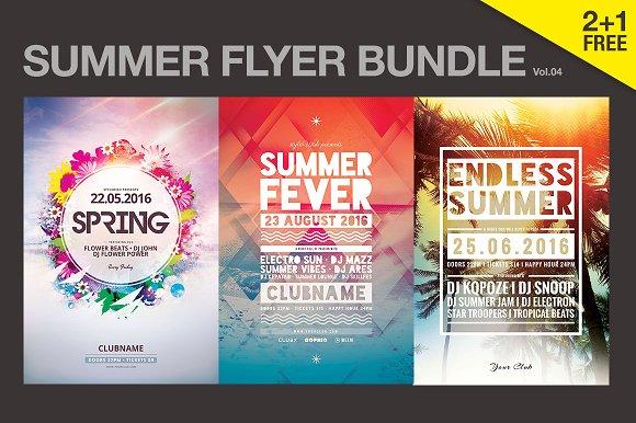 SALE% Summer Flyer bundle Vol.04 in Flyer Templates