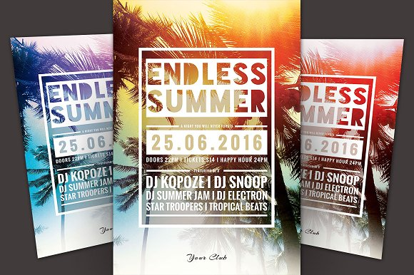 SALE% Summer Flyer bundle Vol.04 in Flyer Templates - product preview 3