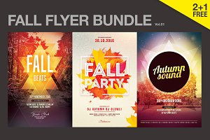 SALE% Fall Flyer Bundle