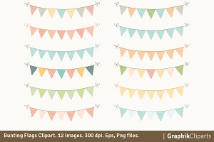 Bunting Flags Clipart