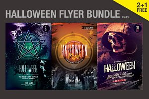 SALE% Halloween Flyer Bundle