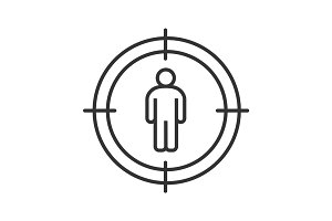 Aim on man linear icon