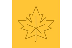Maple leaf linear icon
