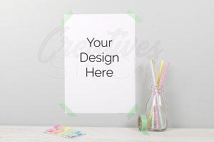 A4 Color Pop Print Mockup
