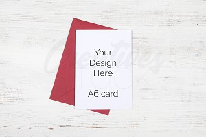 A6 Red Envelope Stock Photo