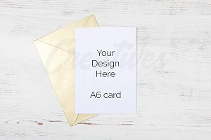 A6 Gold Envelope Stock Photo