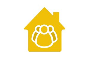Housing cooperative glyph color icon