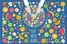 Flat Fruits Salad