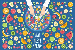 Flat Fruits Salad
