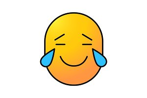 Face with tears of joy color icon