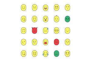 Smileys color icons set