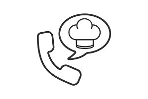 Food phone order linear icon