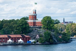 Citadel called Kastellet on Kastellholmen Stockholm