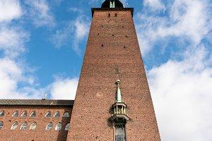 Brick built city hall in Stockholm Sweden